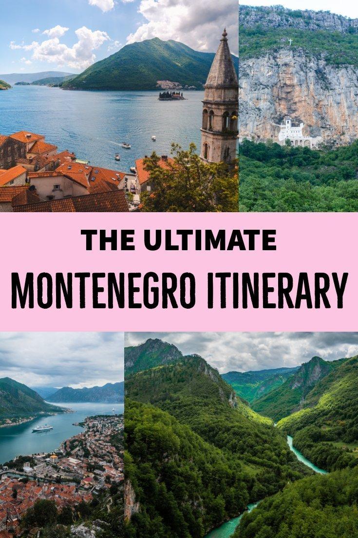 7 day Montenegro itinerary pin