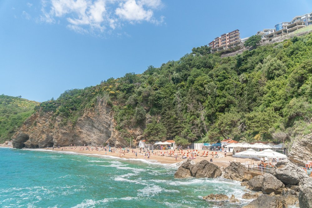 Visiting Mogren beach - one of the best things to do in Budva