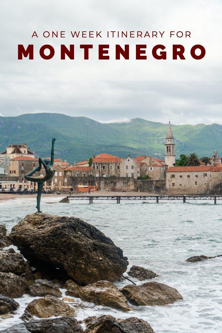 One week Montenegro itinerary pin
