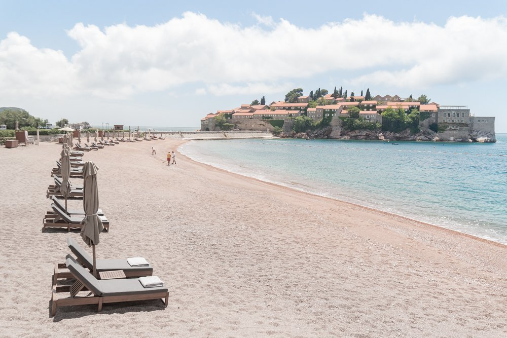 Sveti Stefan beach - a great day trip from Budva