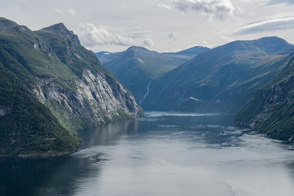 Ljoen viewpoint of Geirangerfjord, Norway