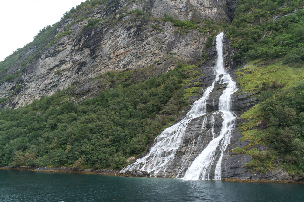 The Suitor waterfall - one of the most famous in Geirangerfjord