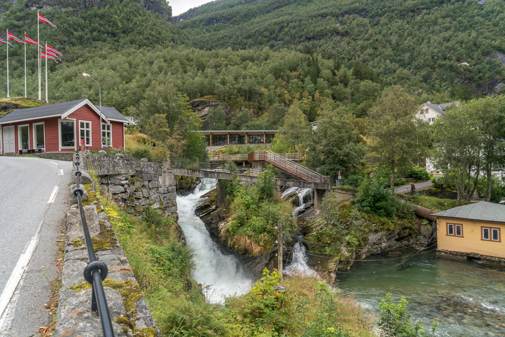 Waterfall in Geiranger, Norway