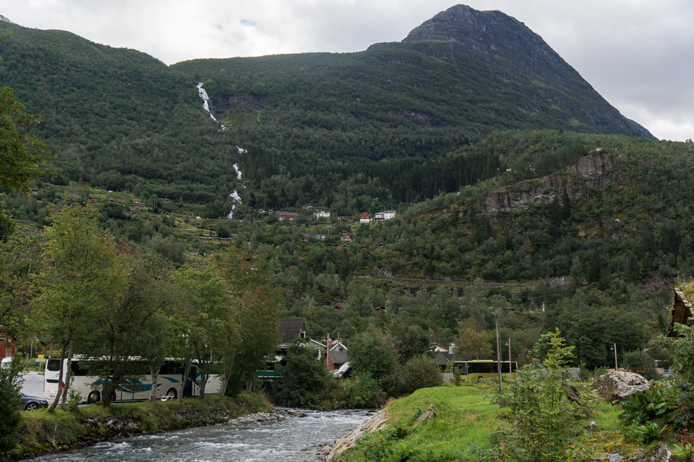 Waterfall in Geiranger - hiking is one of the best things to do in the village