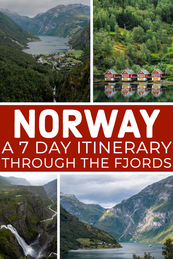 7 Day Norway Fjords Itinerary Pin
