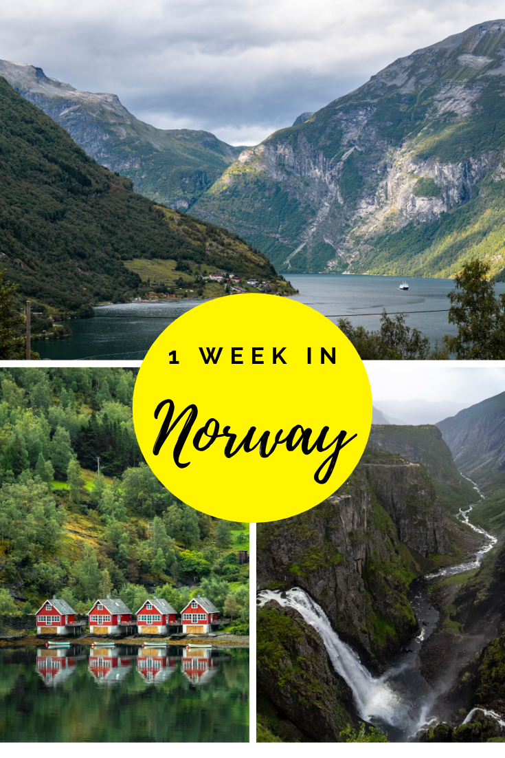 One Week Norway Fjords Itinerary Pin