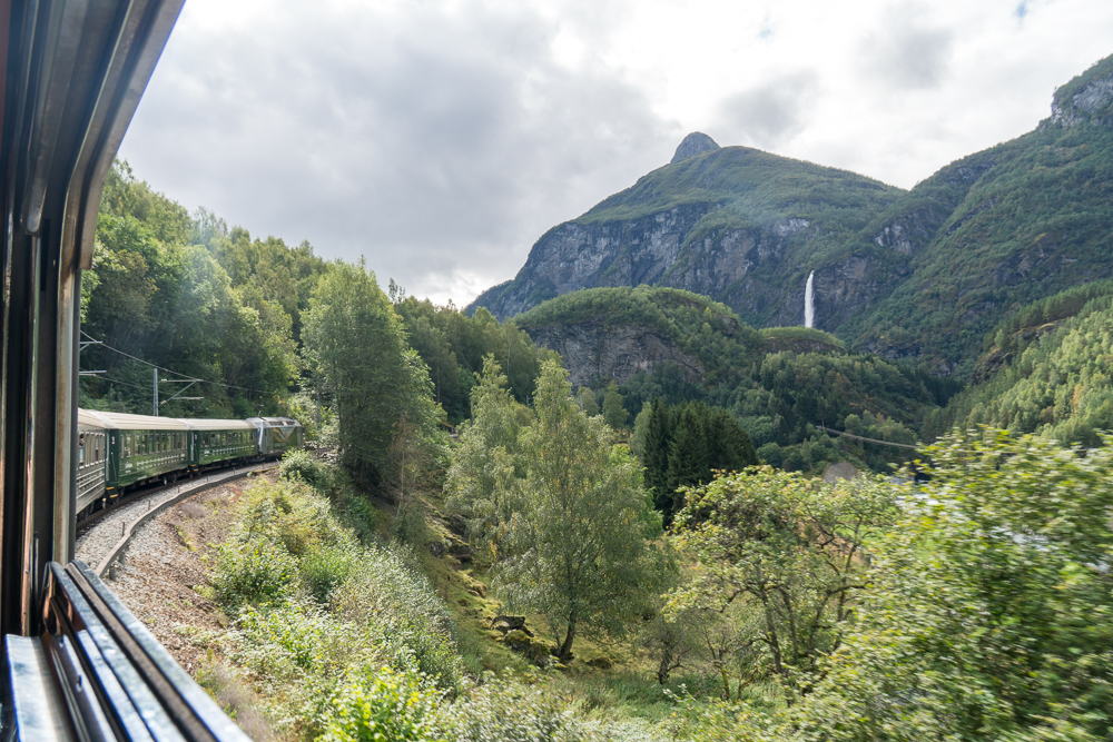 Scenery on the Flam to Myrdal train ride in Norway