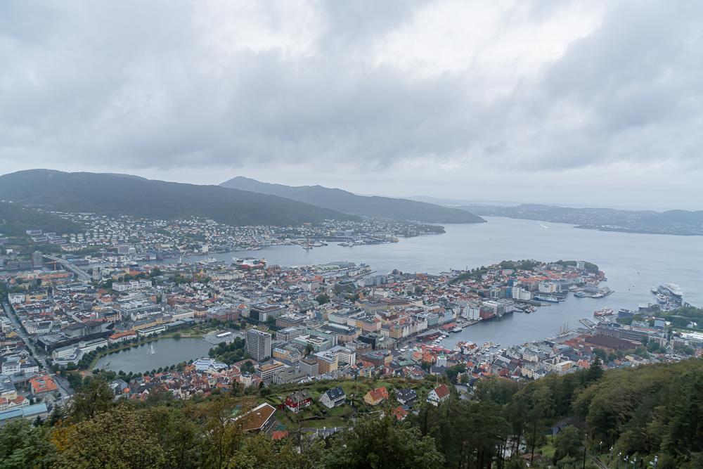 View of Bergen from Mount Fløyen, Norway