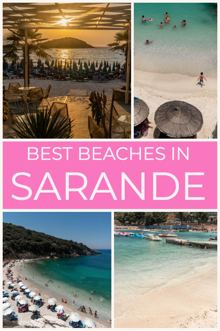 Best beaches in Sarande, Albania, pin
