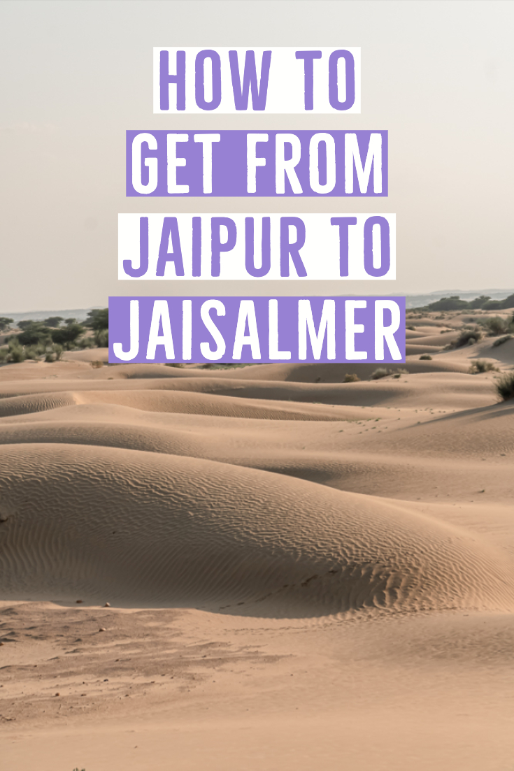 How to get from Jaipur to Jaisalmer pin
