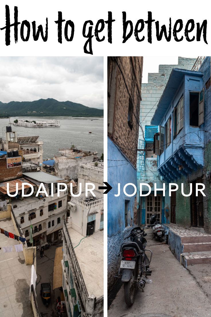 How to get from Udaipur to Jodhpur pin