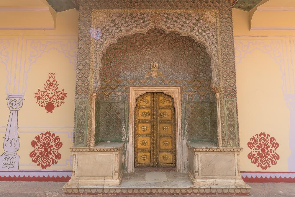Inside the City Palace, Jaipur to Jaisalmer