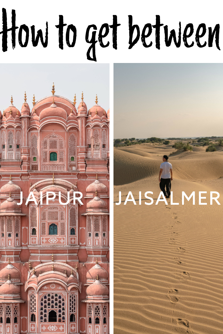 Jaipur to Jaisalmer pin