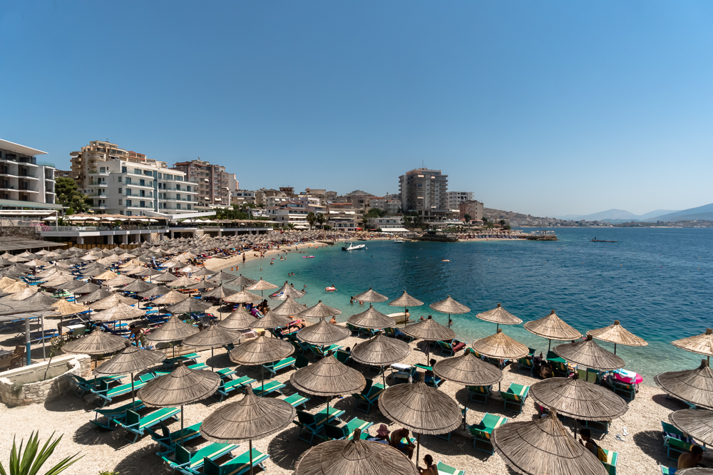 One of the best private beaches in Saranda, Albania