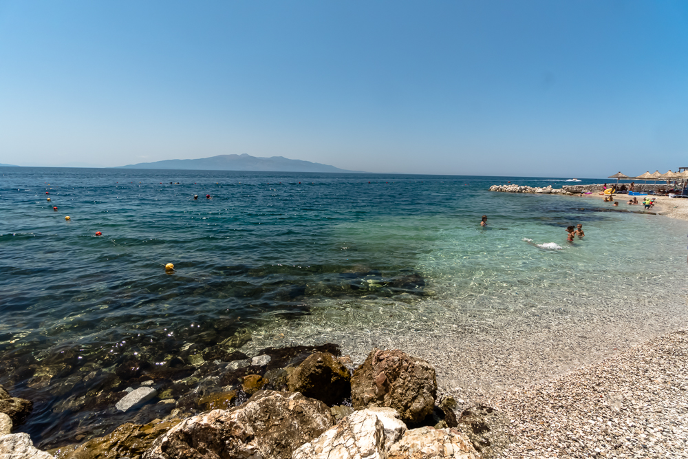 Private beaches like this are some of the best beaches in Sarande