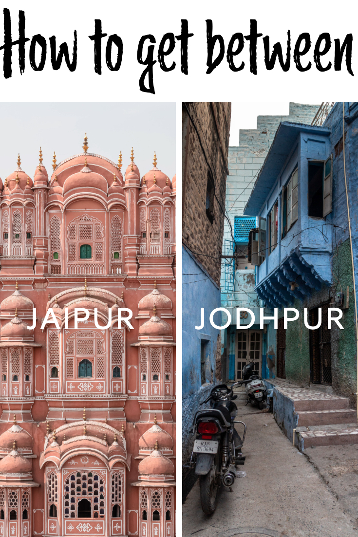 How to get from Jaipur to Jodhpur pin