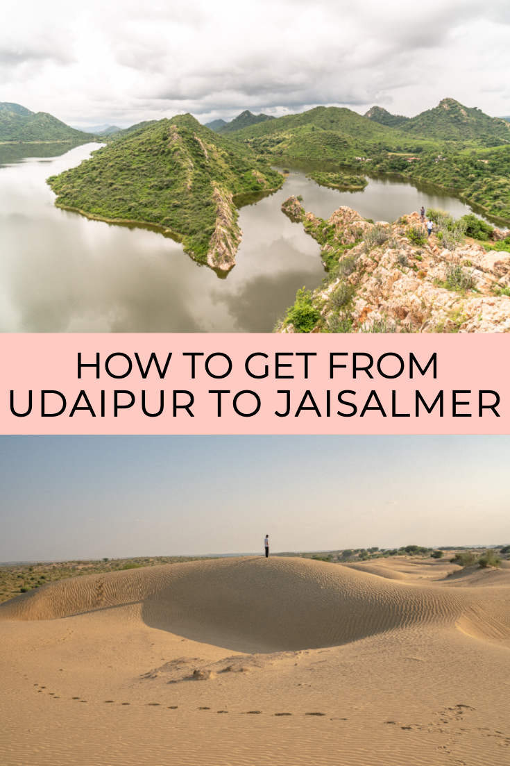 How to get from Udaipur to Jaisalmer pin