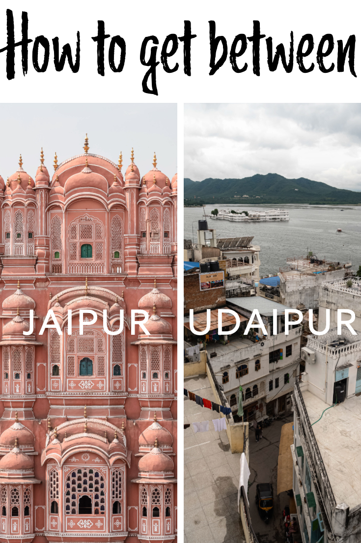 Jaipur to Udaipur pin