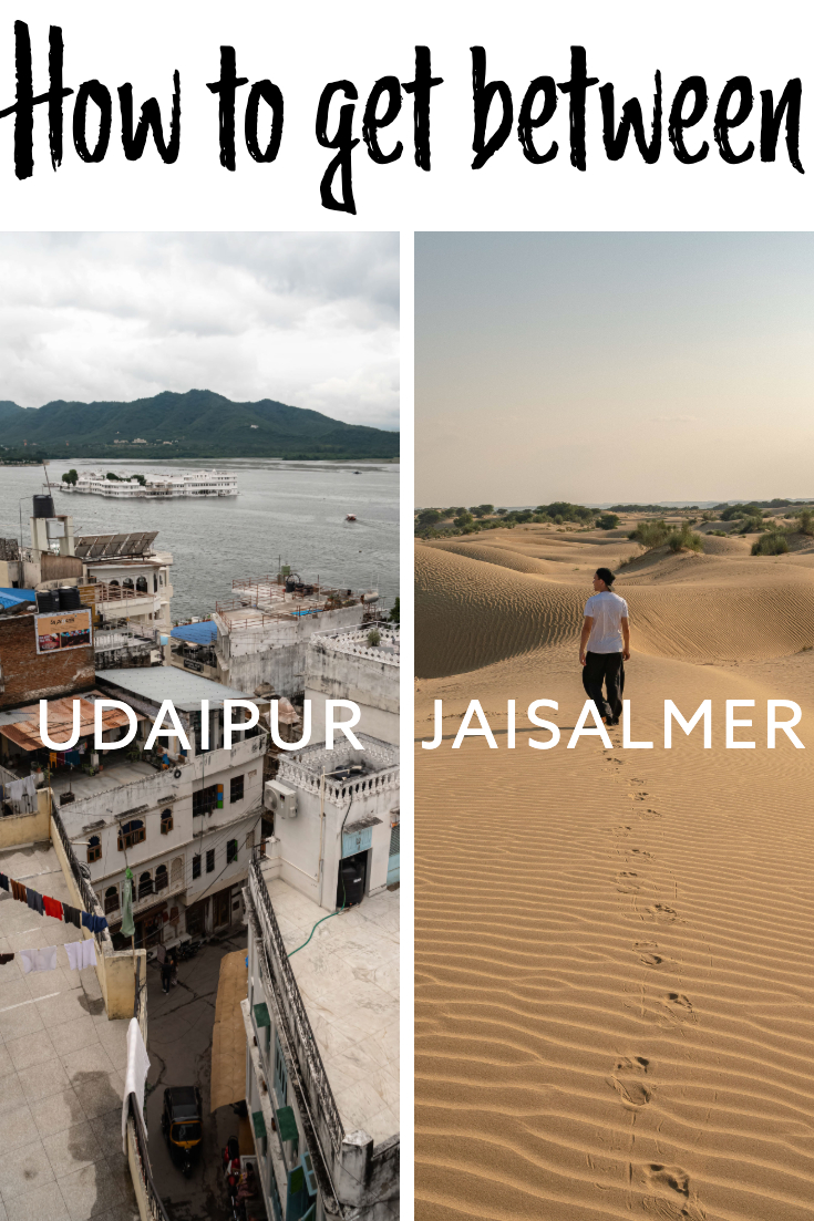 Udaipur to Jaisalmer pin