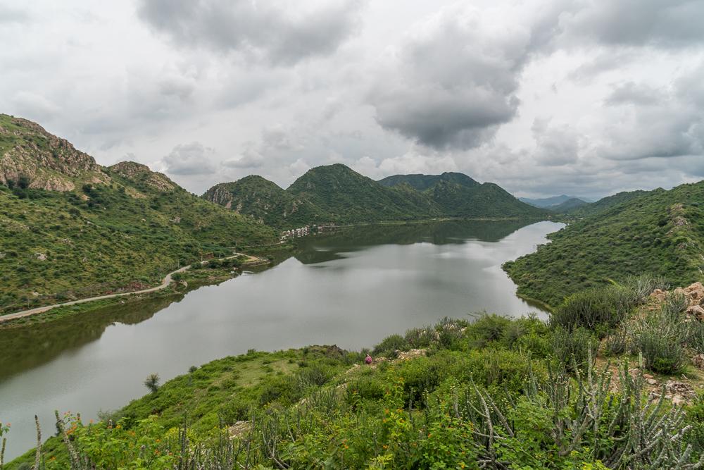 View of Badi Lake from Bahubali Hill