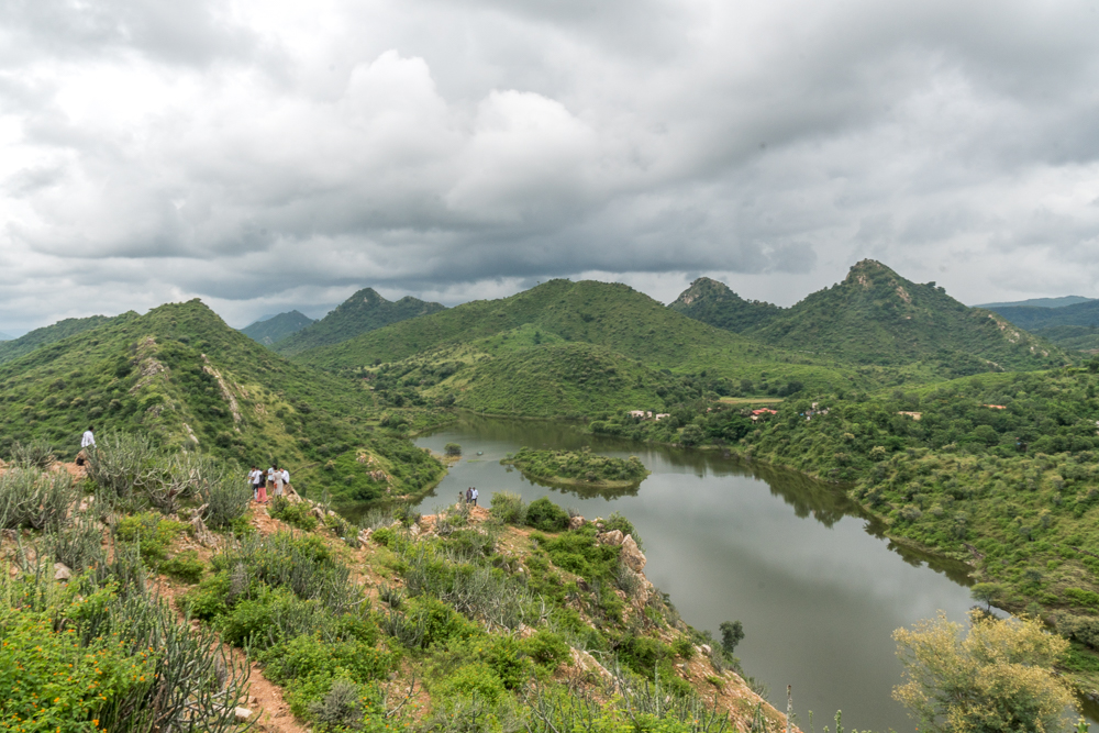 View over part of Badi Lake from Bahubali Hill
