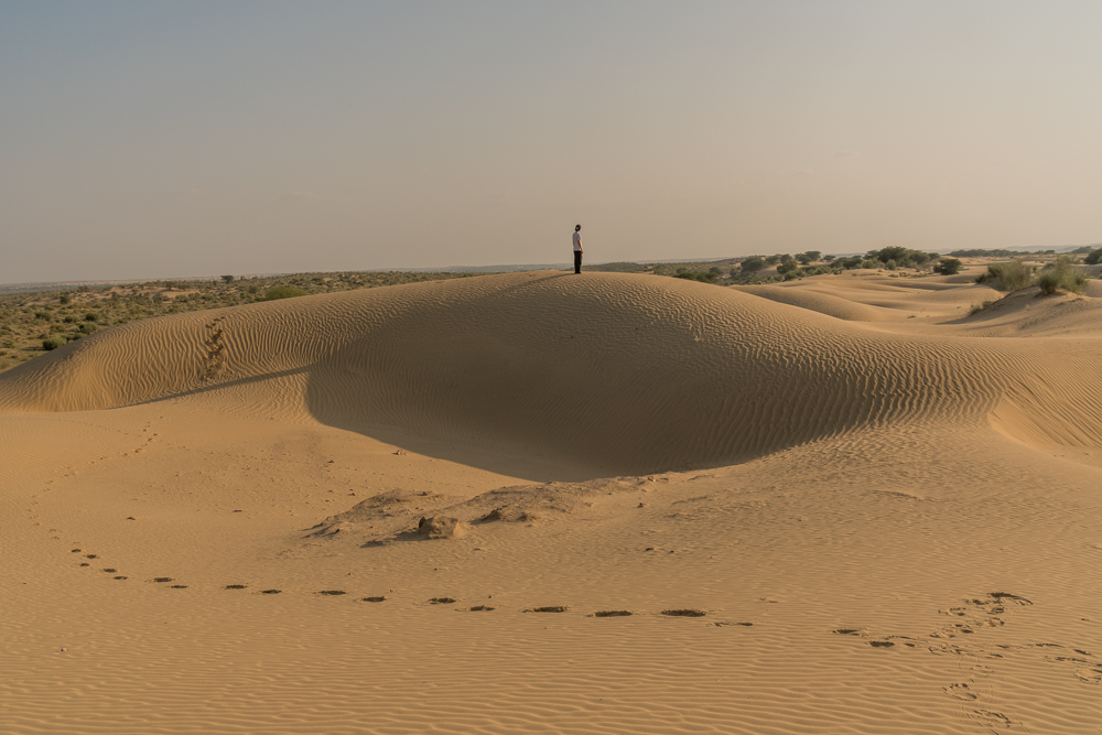 Sand dunes in the Thar Desert - an essential inclusion on this 2 days Jaisalmer itinerary